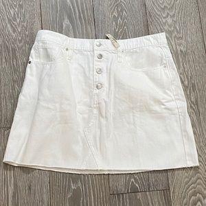 NWT Madewell Rigid Denim A-Line Skirt